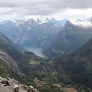 Mountain top in Geiranger Norway by Sweetpea06