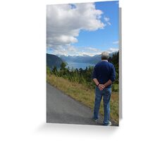 The lost and found Geiranger and a man Greeting Card
