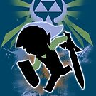 Super Smash Bros. Light Blue Toon Link Silhouette by jewlecho