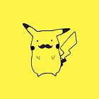 Moustache Pikachu by Dean Lord