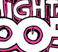 The Mighty Boosh – Dripping Pink Writing & Mask Sticker