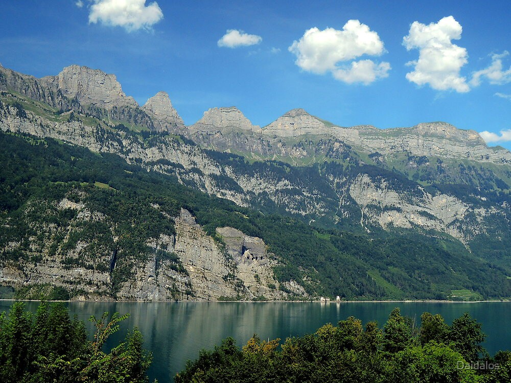 Switzerland, Lake Walensee, by Daidalos
