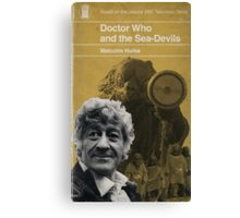 Doctor Who and the Sea-Devils - Penguin style Canvas Print