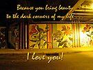 I Love You Night Graffiti Greeting Card by MotherNature