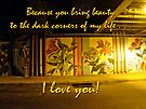 I Love You Night Graffiti Greeting Card by MotherNature