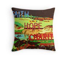 Faith Hope Charity Throw Pillow