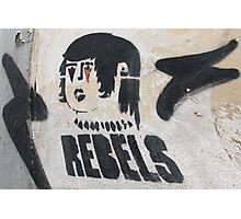 Italian Rebel Boy Graffiti Photographic Print