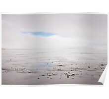 Land, sea, fog Poster