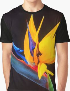 Strelitzia Isolated On Black Background Graphic T-Shirt