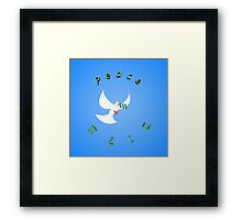 Bloody Peace - Peace in English and Hebrew  Framed Print