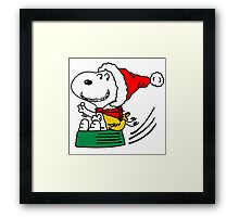 snoopy christmas Framed Print