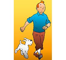 Tintin and Snowy Photographic Print