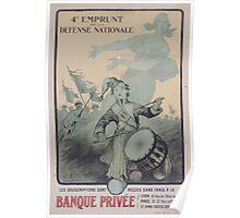 4e Emprunt de la Défense Nationale Les souscriptions sont reçues sans frais á la Banque Privée Poster
