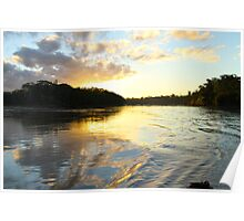 Sunset over the Amazon Rainforest Poster