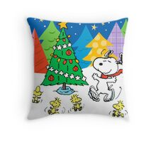 snoopy christmas Throw Pillow