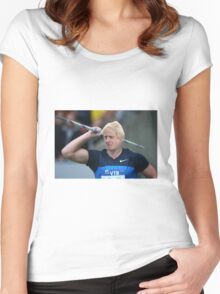 Boris competes in Olympic javelin Women's Fitted Scoop T-Shirt