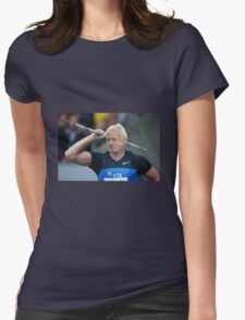 Boris competes in Olympic javelin Womens Fitted T-Shirt