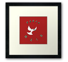 Bloody Peace - Peace and wounded white dove  Framed Print
