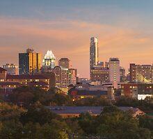Austin Skyline Sunset from the Northwest 1 by RobGreebonPhoto