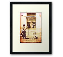 And she sang the songs of Edith Piaf Framed Print