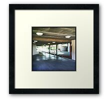 See through Framed Print