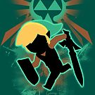 Super Smash Bros. Teal Toon Link Silhouette by jewlecho