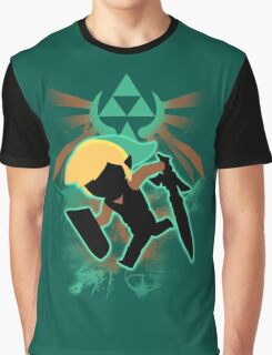 Super Smash Bros. Teal Toon Link Silhouette Graphic T-Shirt