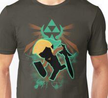 Super Smash Bros. Teal Toon Link Silhouette Unisex T-Shirt