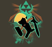 Super Smash Bros. Teal Toon Link Silhouette Unisex T-Shirt
