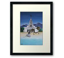 Draper Utah Temple Framed Print
