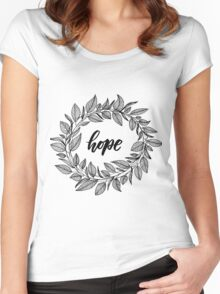 Hope Wreath Black Women's Fitted Scoop T-Shirt