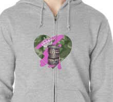 THE ART OF STACKING BANGLES (urban jungle/soldier edition) Zipped Hoodie