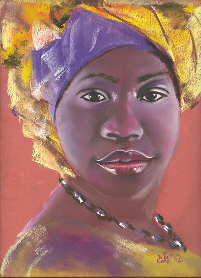 African beauty 1 by Elena Malec