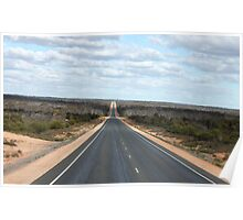 Driving the Nullarbor Plains Poster