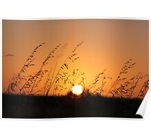 Sunset on the Nullarbor Plains Poster