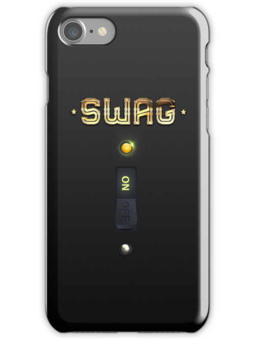 The Original SWAG ON Switch iPhone Case by cdoty