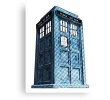 Comic TARDIS Canvas Print