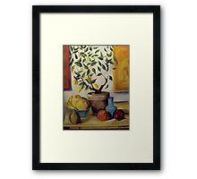 Pear and Apple Framed Print