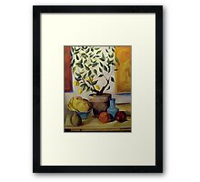 Pear and Apple Framed Print