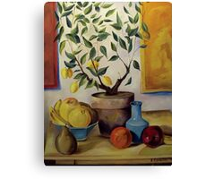 Pear and Apple Canvas Print