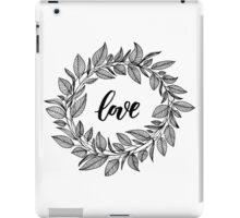 Love Wreath Black iPad Case/Skin