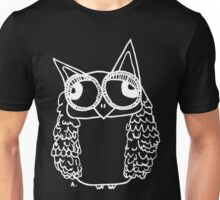 Owl number 2 - white  Unisex T-Shirt