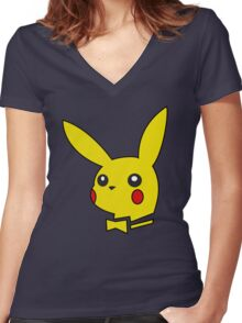 pokemon bunny Women's Fitted V-Neck T-Shirt