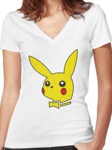 pokemon bunny Women's Fitted V-Neck T-Shirt