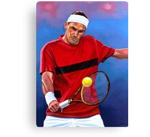 The Swiss Maestro Roger Federer Canvas Print
