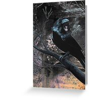 Raven Black Greeting Card