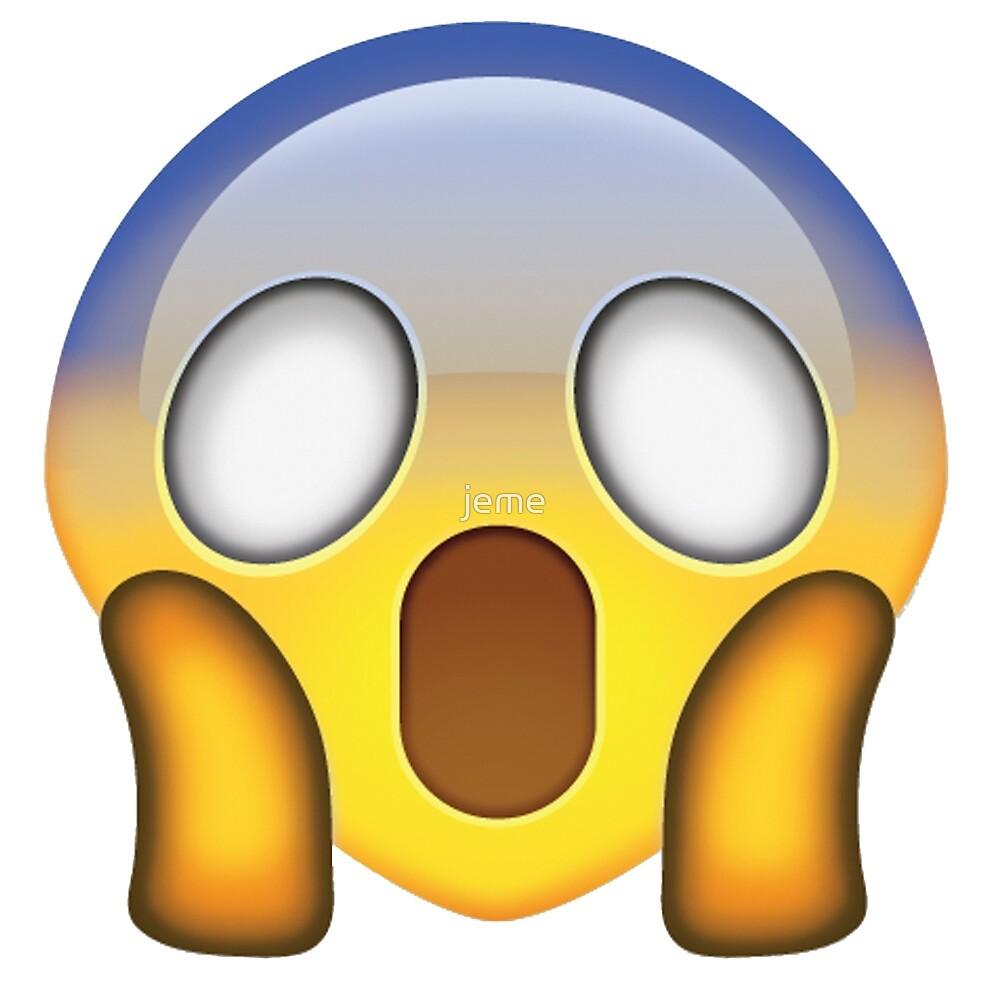 shocked face emoji quot von jeme redbubble