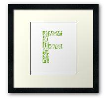 Font Fashion F Framed Print