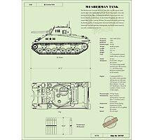 Sherman Tank Photographic Print