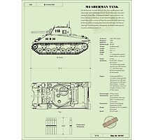 Sherman Tank Photographic Print